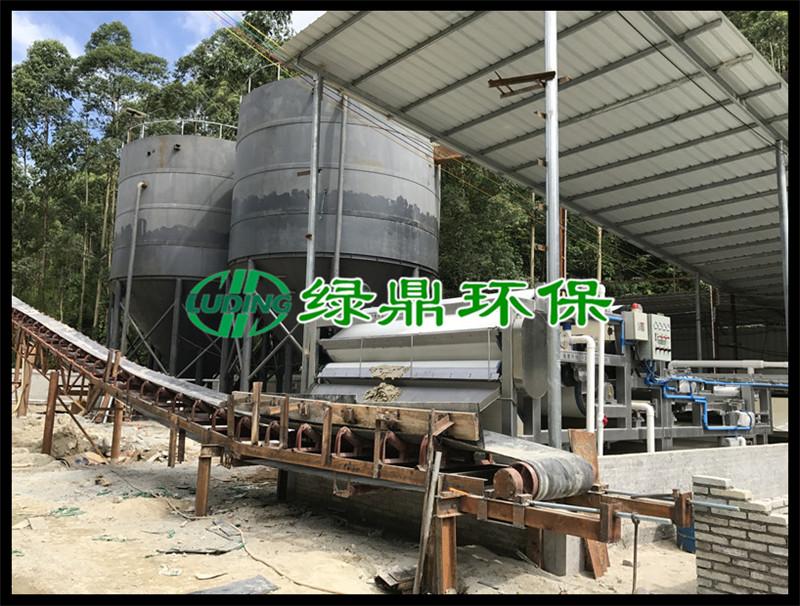 沙场带式压滤机应用案例(云佛洗沙场) 4